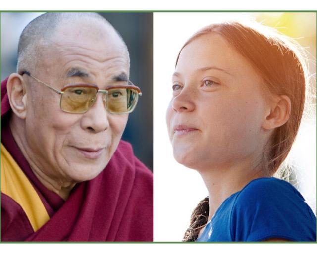 Greta Thunberg, Dalai Lama
